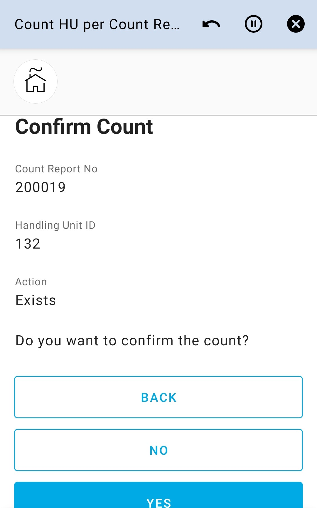 Confirm Count