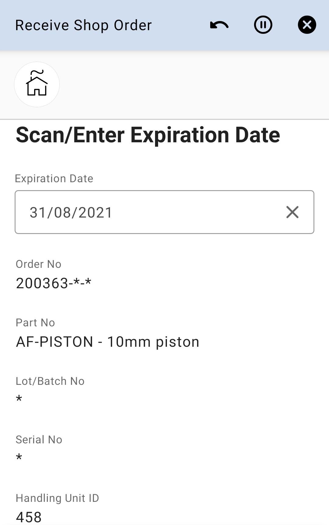 Enetr Expiration Date