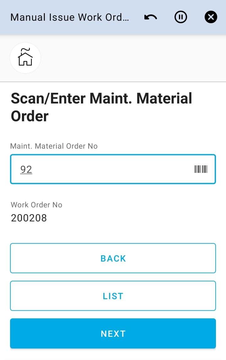 Enter Main Order