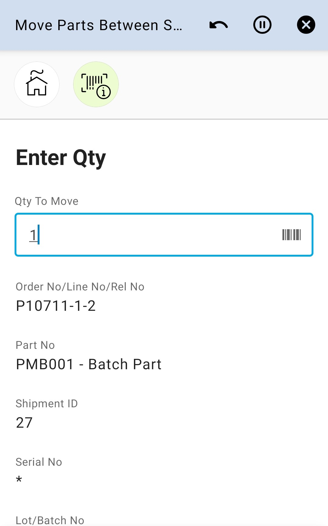 Enter Qty 16