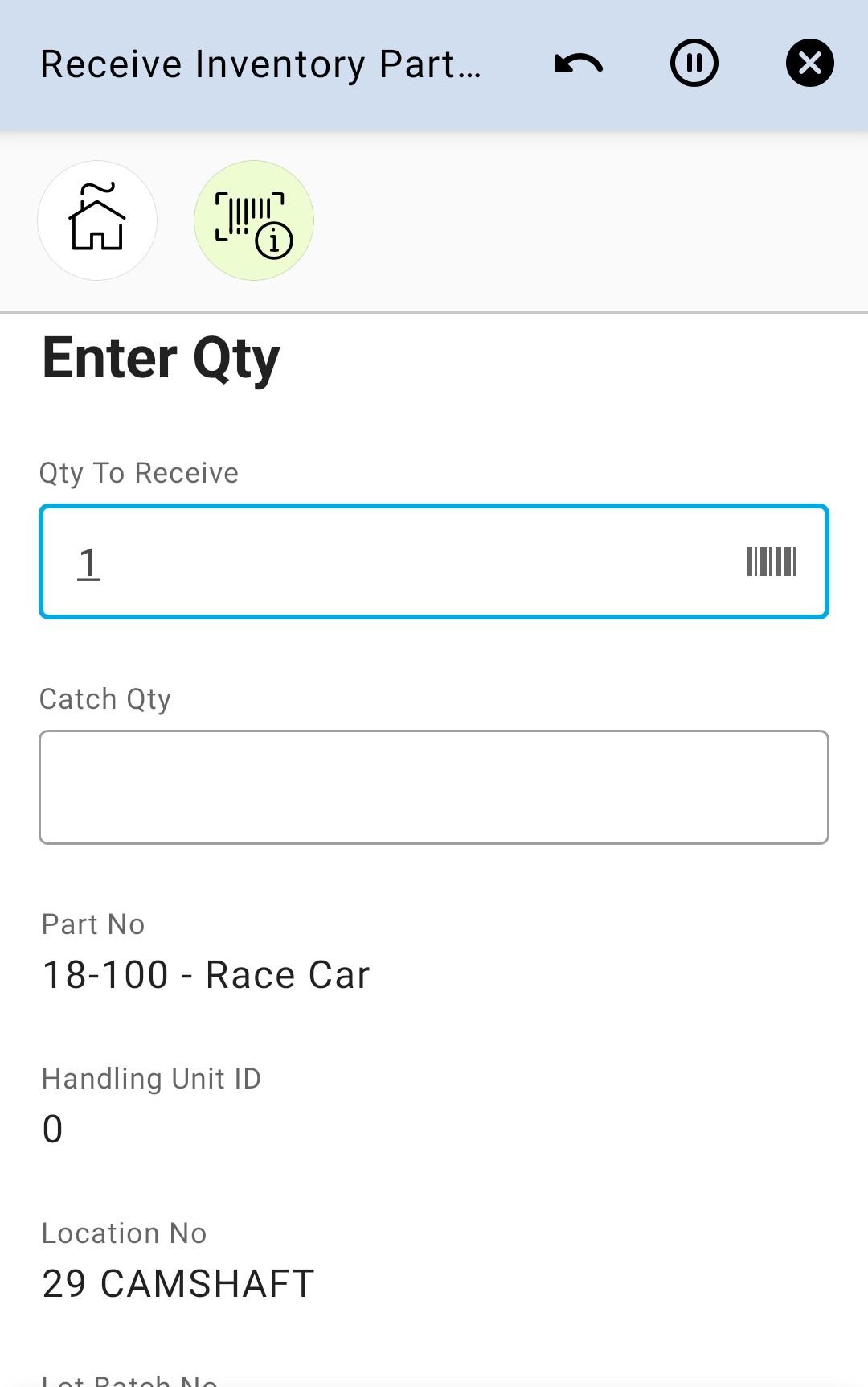 Enter Qty 17