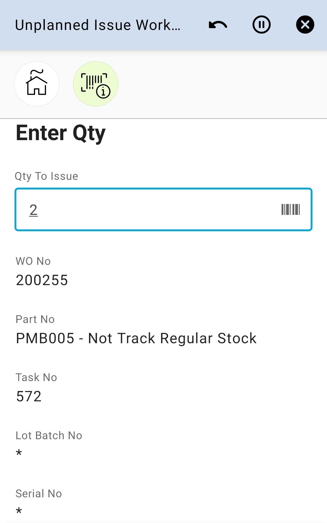 Enter Qty 21