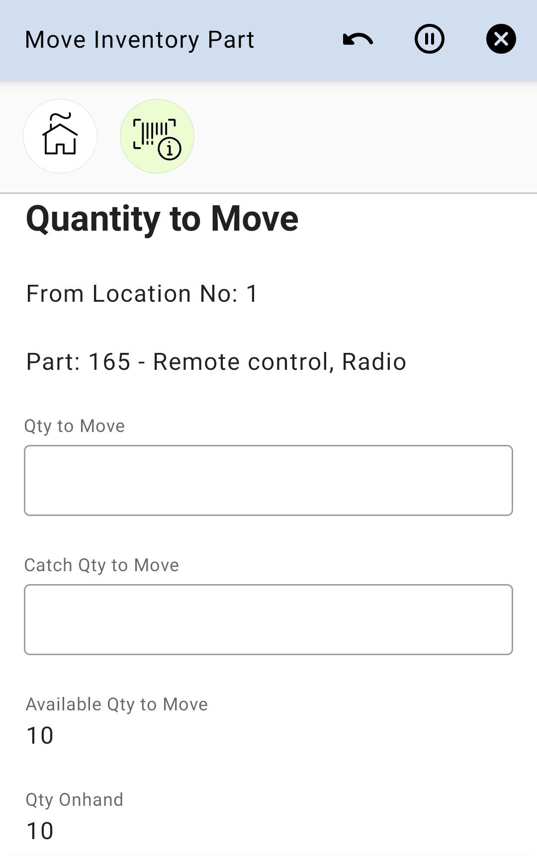 Qty Move