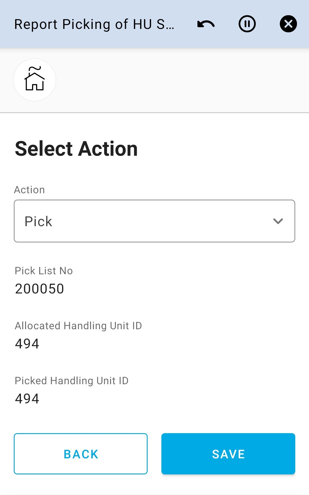 Select Action 7