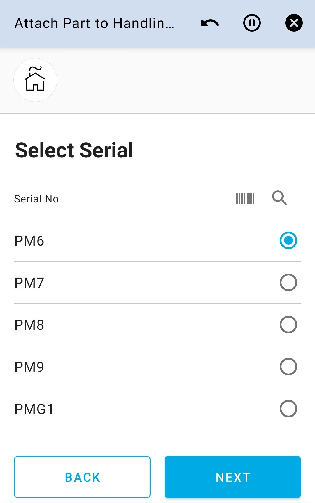Select Serial No