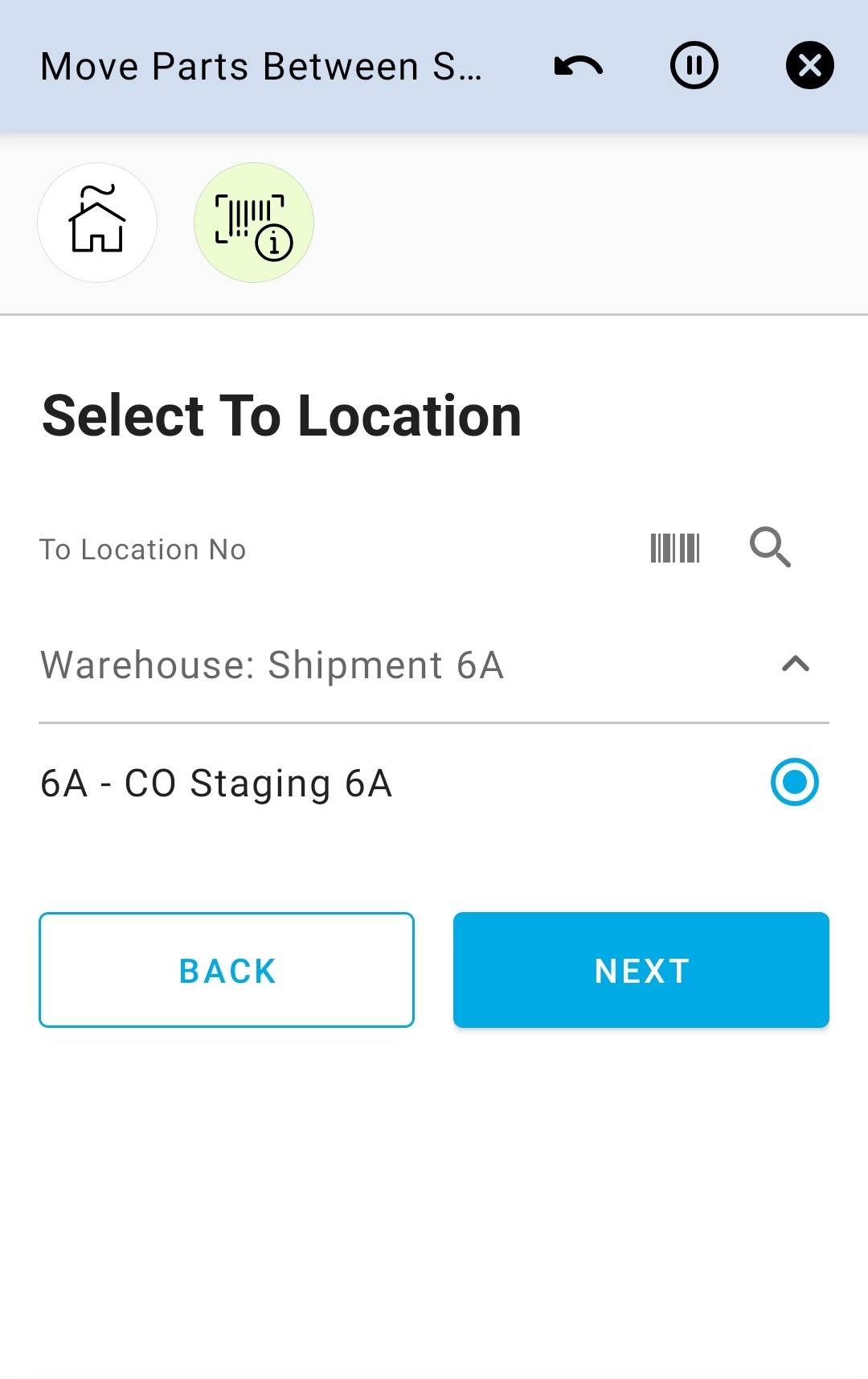 Select To Location 1