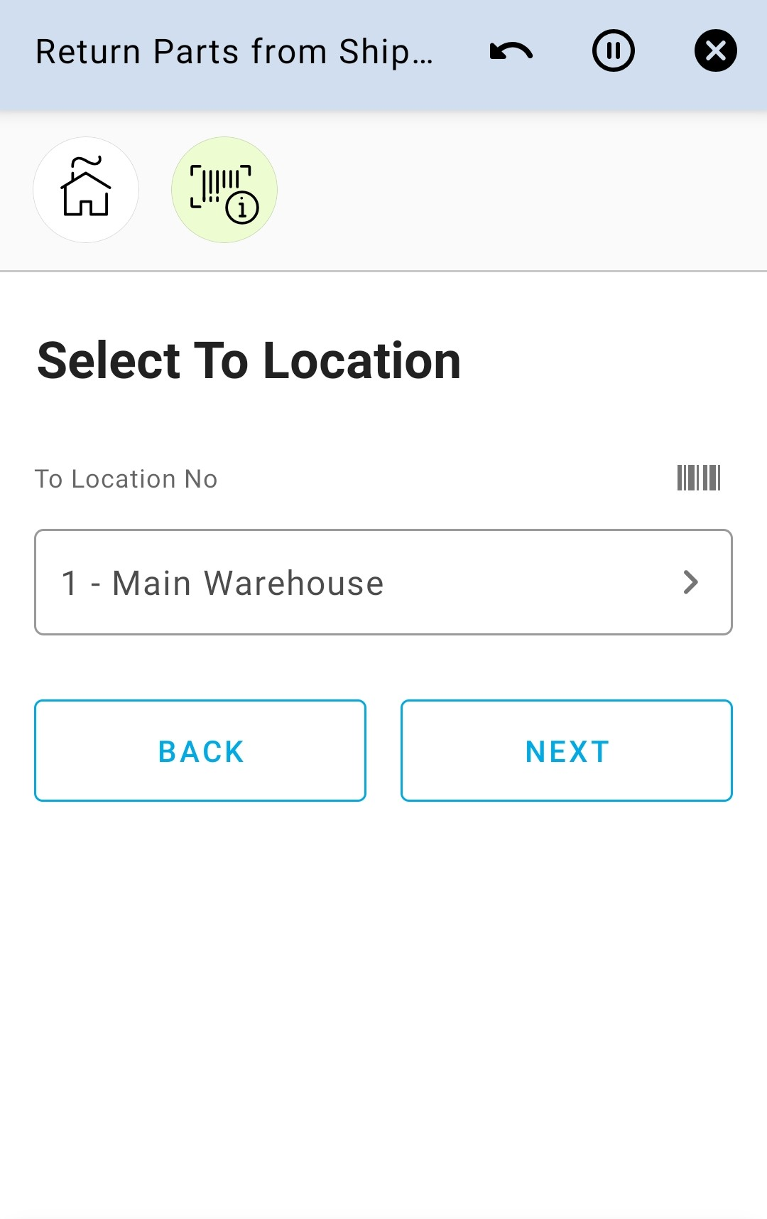 Select To Location